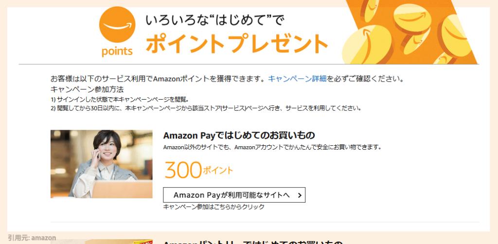 amazon(アマゾン)でポイントがもらえる